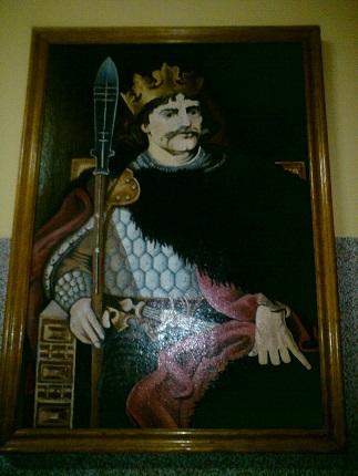 Obraz namalowany w 1996 r. przez nauczycielkę przedmiotów zawodowych p. Elżbietę Sadurę.