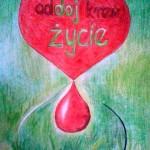 Logo Klubu Krwiodawców - praca Sylwii Niedzieli