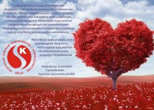 Życzenia dla krwiodawców