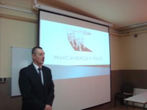 Spotkanie z Panem Ireneuszem Gołuszka urzędnikiem wyborczym gminy Złota
