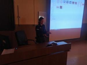 Spotkanie profilaktyczne z funkcjonariuszem policji